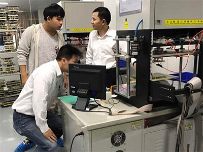 Visiting Flex PCB equipment